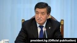 Президент Кыргызтана Сооронбай Жээнбеков.