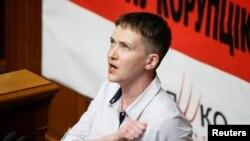 Надежда Савченко, украинская военнослужащая, депутат Верховной Рады.