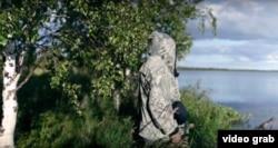 Сергей Кечимов, кадр из сюжета Greenpeace