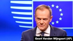 """European Council President Donald Tusk said that all member states were """"totally united when it comes the role of sanctions against Russia.""""(file photo)"""
