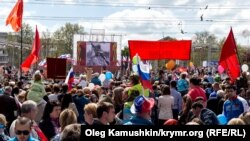 Парад на День Победы в Симферополе (архивное фото)