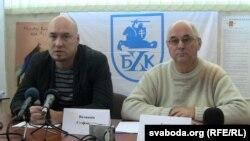 Праваабаронцы Валянцін Стэфановіч і Гары Паганяйла