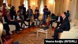 Franko Fratini u razgovoru sa novinarima, 22. oktobar 2013.