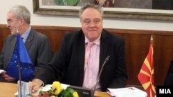 Известувачот на Европарламентот за Македонија Ричард Ховит.