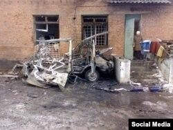 Знищений автомобіль швидкої допомоги міської лікарні, Щастя