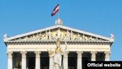 Дворец парламента Австрии в городе Вена.