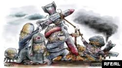 Քաղաքական ծաղրանկար ռուս-ուկրաինական խնդիրների շուրջ