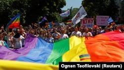 Гей-парад у Скоп'є, Північна Македонія, 29 червня 2019 року