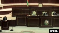 Rəcəb Tayyib Ərdoğan Azərbaycan parlamentində çıxış edir, 13 may 2009