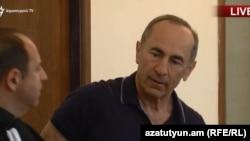 Роберт Кочарян в суде, Ереван, 12 июня 2019 г.