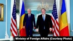 Întrevederea ministrului afacerilor externe, Teodor Meleșcanu, cu secretarul de stat al Statelor Unite ale Americii, Mike Pompeo