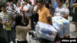 Hələb erməniləri Yerevanda (Foto arxivdəndir)