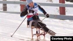 Казахстанская паралимпийская спортсменка Жаныл Балтабаева.