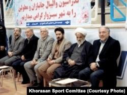 هادی میرعلی (راست) در کنار غلامحسین ابراهیمی