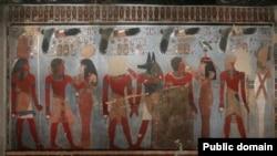 Байыркы египеттиктерге таандык сүрөттөр. Иллюстрациялык сүрөт.
