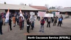 Протестующие на владикавказских складах, 6 апреля 2017 года