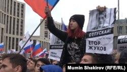 Митинг на проспекте Сахарова 10 августа