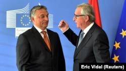 Viktor Orban i Jean-Claude Juncker