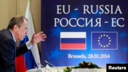 "Russian Foreign Minister Sergei Lavrov says Moscow's relations with the European Union have reached a ""moment of truth"" over Ukraine's political crisis."