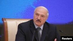 Президент Білорусі Олександр Лукашенко під час прес-конференції для російських регіональних ЗМІ, Мінськ, 17 листопада 2016 року
