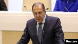 Sergei Lavrov în Parlamentul de la Moscova