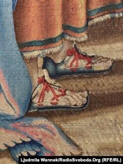 Фрагмент одного з килимів Рафаеля «Паси овець моїх»