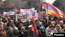 Митинг АНК на площади Свободы в Ереване, 1 марта 2014 г.