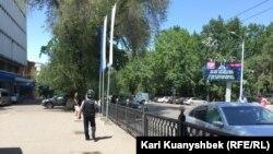Місце перестрілки між поліцією і нападниками в Алмати, Казахстан, 18 липня 2016 року