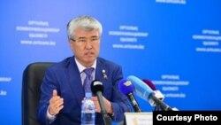 Министр культуры и спорта Республики Казахстан Арыстанбек Мухамедиулы. Фото взято с сайта sk-sport.kz.