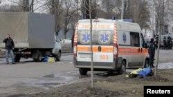 Місце вибуху у Харкові у неділю, 22 лютого