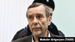 Human rights activist Lev Ponomaryov attends a court hearing in Moscow earlier this month.