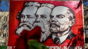 Ukraine, Crimea -- On the anniversary of the October Revolution took place in Crimea stock Communists, 07Nov2014