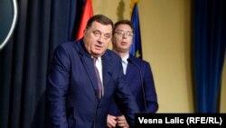 Dodik i Vučić u Beogradu 14. jula 2016.