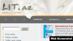 Azerbaijan -- Lit.az literary site, undated