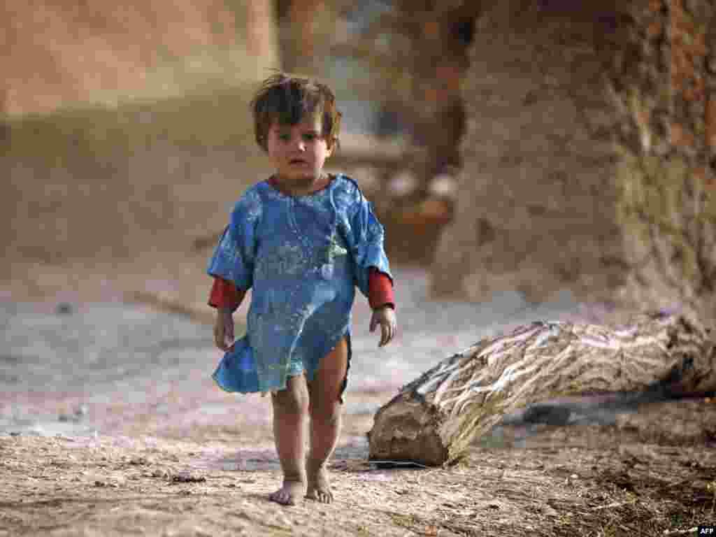 Аўганістан: мясцовая дзяўчынка сярод ваенных дзеяньняў