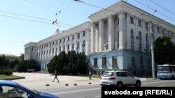 Здание российского правительства Крыма в Симферополе