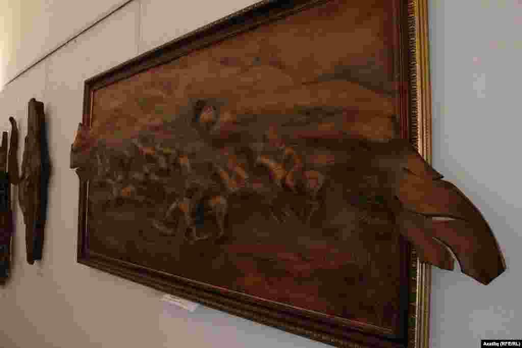 Күннән эшләнгән ат сурәтле картина