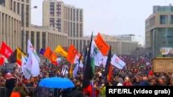 La demonstrația de duminică de la Moscova