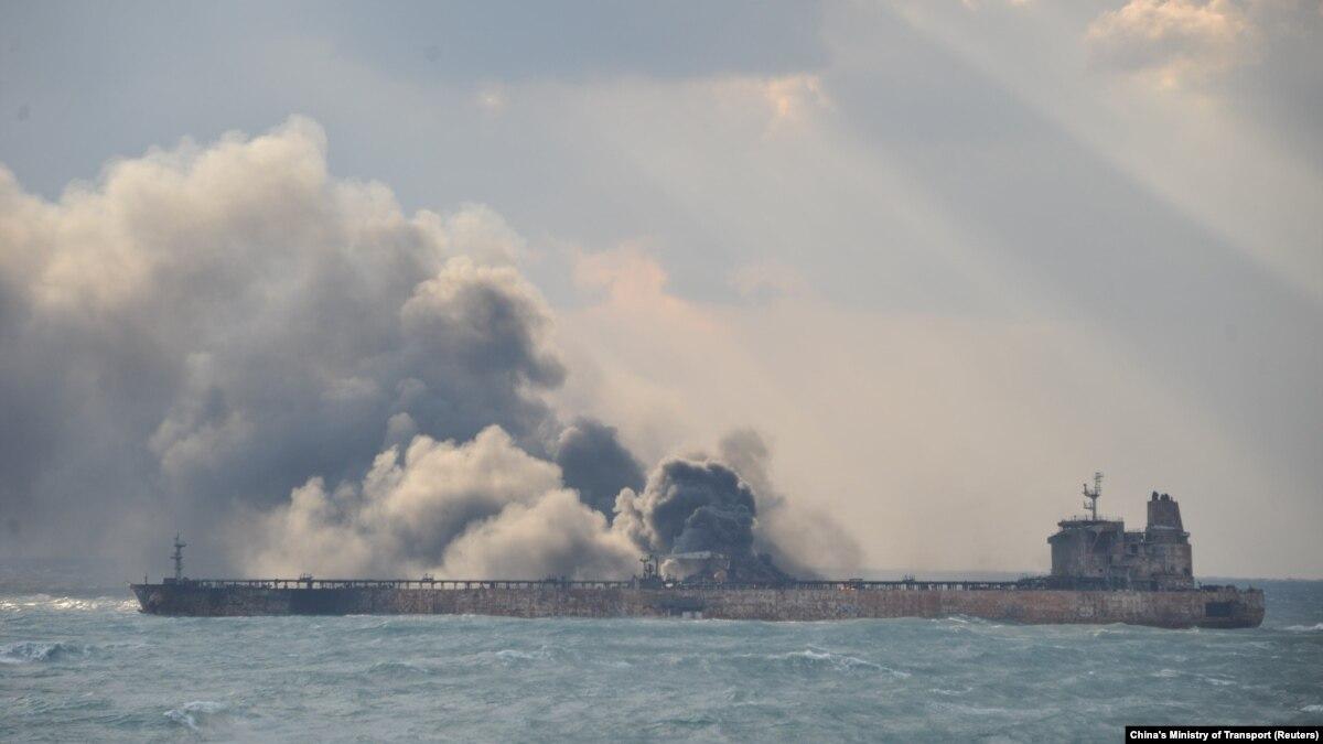 عملیات اطفاء حریق نفتکش ایرانی در آبهای چین «آغاز شده است»