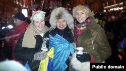 Гражданский активист Мухтар Тайжан на Майдане. Киев, 8 декабря 2013 года.