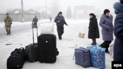 Дебальцеве: мешканці готуються до евакуації, фото 30 січня 2015 року
