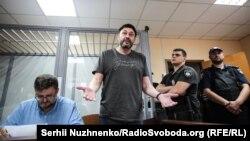 Руководитель «РИА Новости-Украина» Кирилл Вышинский во время судебного заседания