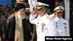 Supreme Leader Ali Khamenei decorated Rear Admiral Habibollah Sayyari with Fath medal on September 9, 2018. FILE PHOTO