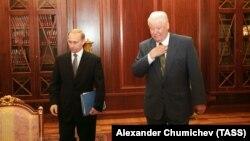 Владимир Путин и Борис Ельцин, 1999 год