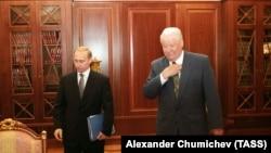 Борис Ельцин и Владимир Путин, 1999 год