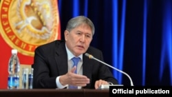 Алмазбек Атамбаев. 24 декабря 2012 года