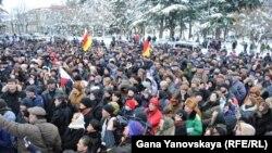 Акция сторонников А.Джиоевой в Цхинвали. 1 декабря, 2011
