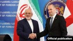 Иран менен Грузиянын тышкы иштер министрлери.