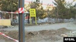 Ыбырай Алтынсарин ескерткішінің орны. Қостанай қаласы, 1 сәуір 2010 жыл.