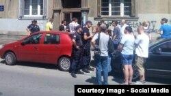 Policija sprečila učesnike protesta da stignu do Hrama Svetog Save